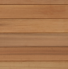 Cedar cladded wall only horizontal cladding showing